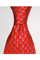 Tie/Bluebonnets Red