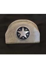 Business Card Holder - Indiwest - Texas Star - Blue Enamel