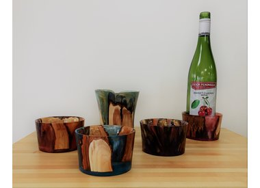 Bowls and Wine Bottle Coasters