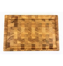 Richard Rose Culinary Ash End Grain Cutting Board with Juice Groove  18 x 12 x 1 3/8