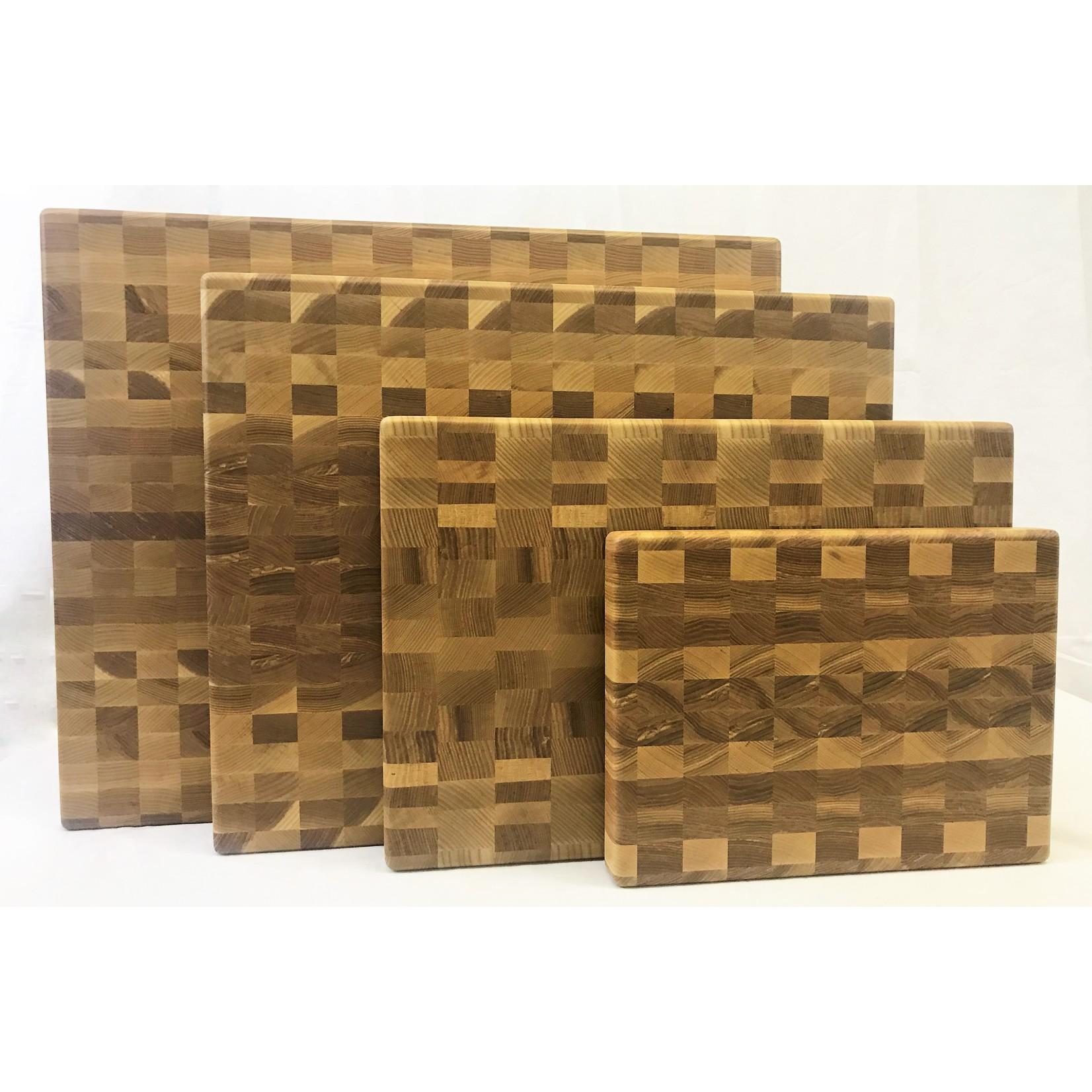 Richard Rose Culinary End Grain Cutting Board Ash Walnut 18 x 12 x 1 3/8