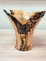 "Ronald Bemmann 7.25"" Maple Stump Vase"