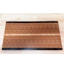 Richard Rose Culinary End Grain Charcuterie-22x12 Red Oak/Walnut/Maple