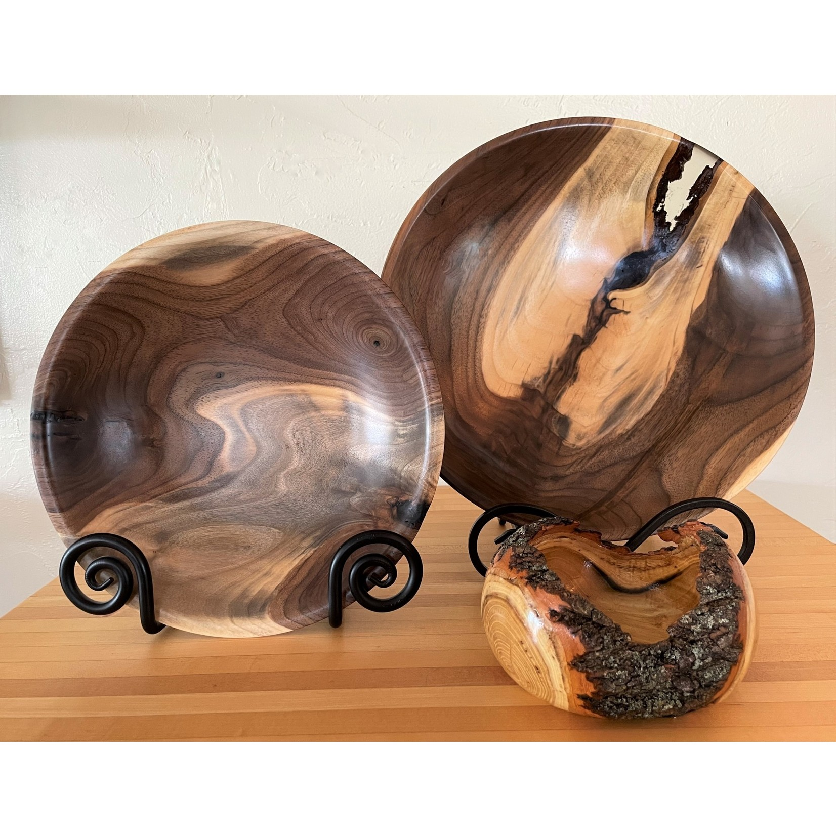 "Ronald Bemmann 10"" Walnut Crotch Bowl"