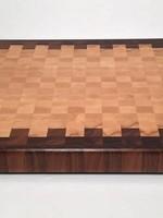 Richard Rose Culinary End Grain Cutting Board 12x18 Cherry Walnut
