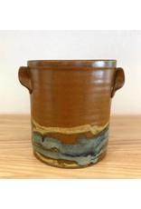 Jeanne Demers Pottery Jeanne Demers Pottery Brown & Varigated  Crock with handles