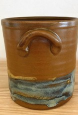Jeanne Demers Pottery Jeanne Demers Pottery Brown & Varigated  Crock with handles