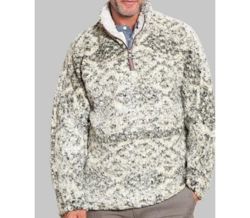 True Grit Tribal Frosty Tipped 1/4 Zip Pullover