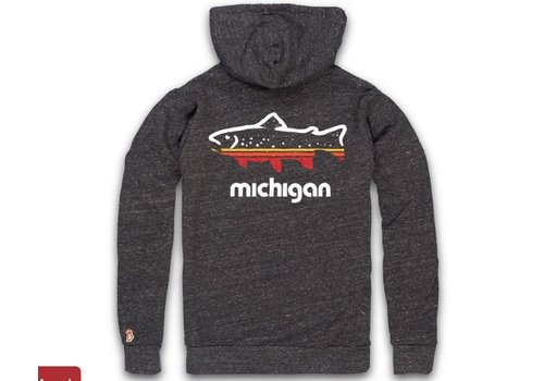 The Mitten State The Mitten State Michigan Outdoors Hoody