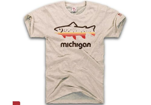 The Mitten State The Mitten State Fish Michigan SS