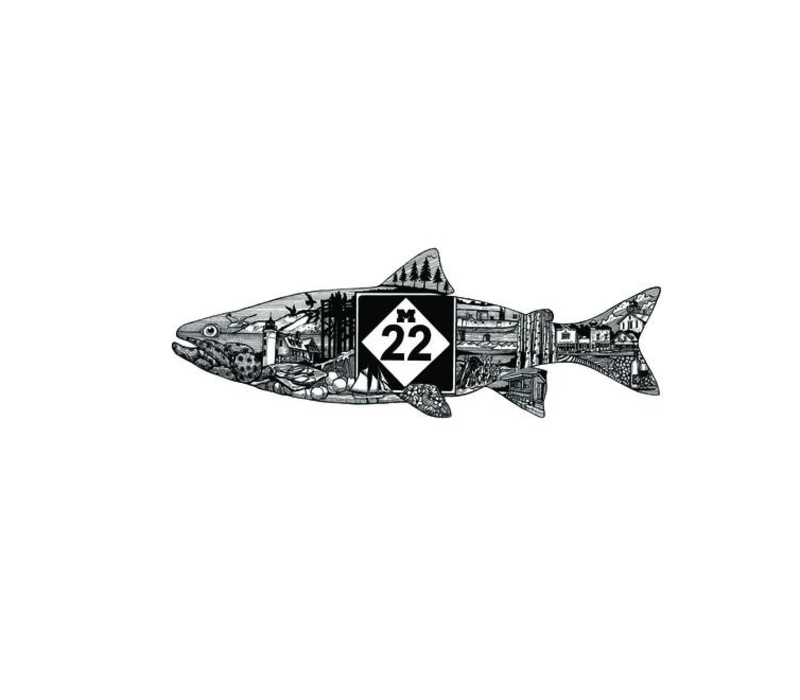 M22 Fishline Sticker