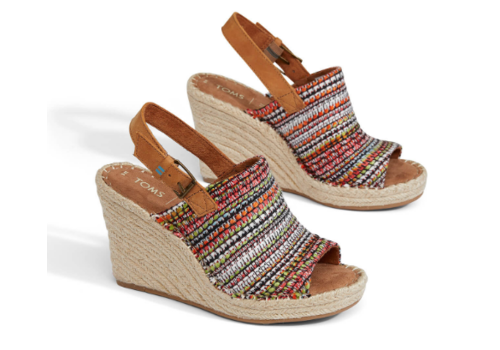 TOMS TOMS Monica Wedge Stripe