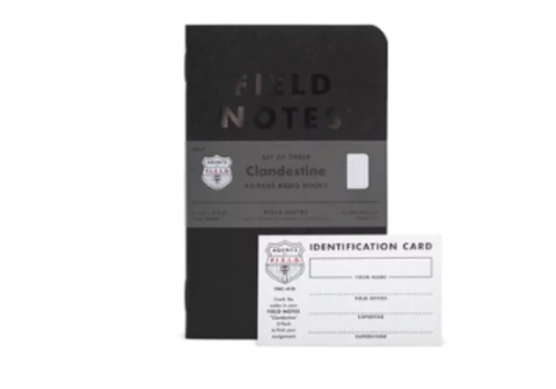 Field Notes Field Notes Clandestine 3 pack