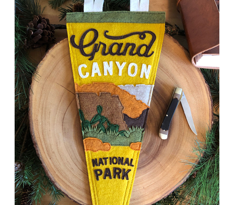 Yoho & Co Felt Pennant Grand Canyon