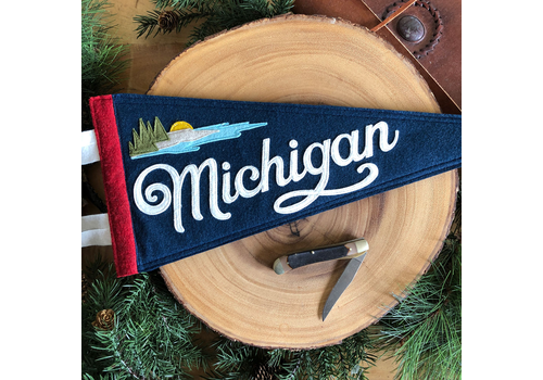 Yoho & Co Yoho & Co Felt Pennant Michigan