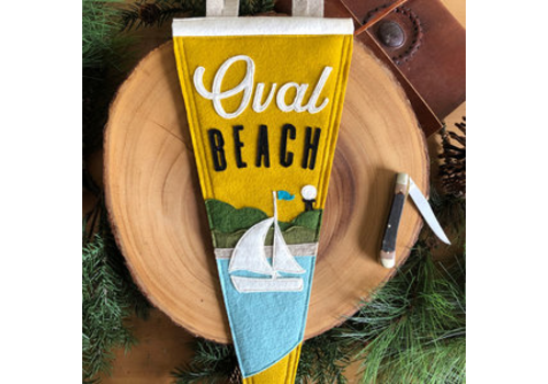 Yoho & Co Yoho & Co Felt Pennant Oval Beach