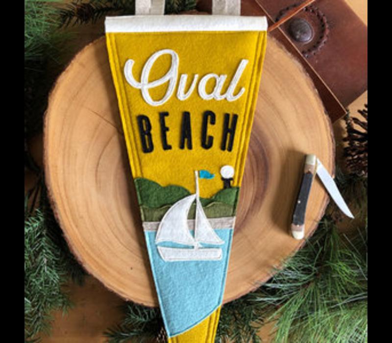 Yoho & Co Felt Pennant Oval Beach
