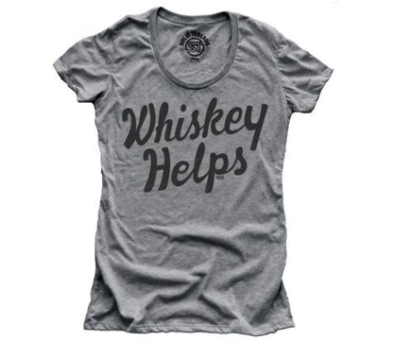 Solid Threads W's Whiskey Helps T-shirt
