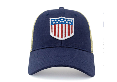 Civil Standard Civil Standard CS Flag Trucker Hat, USA Olympic Shield O/S/Users/davidlokker/Desktop/Screen Shot 2019-11-27 at 9.44.29 AM.png