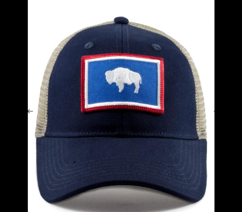 Civil Standard CS Flag Trucker Hat, Wyoming, O/S
