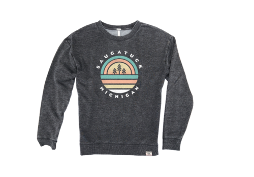 TechStyles Tech Styles W's Saugatuck Trees & Sunset Sweatshirt