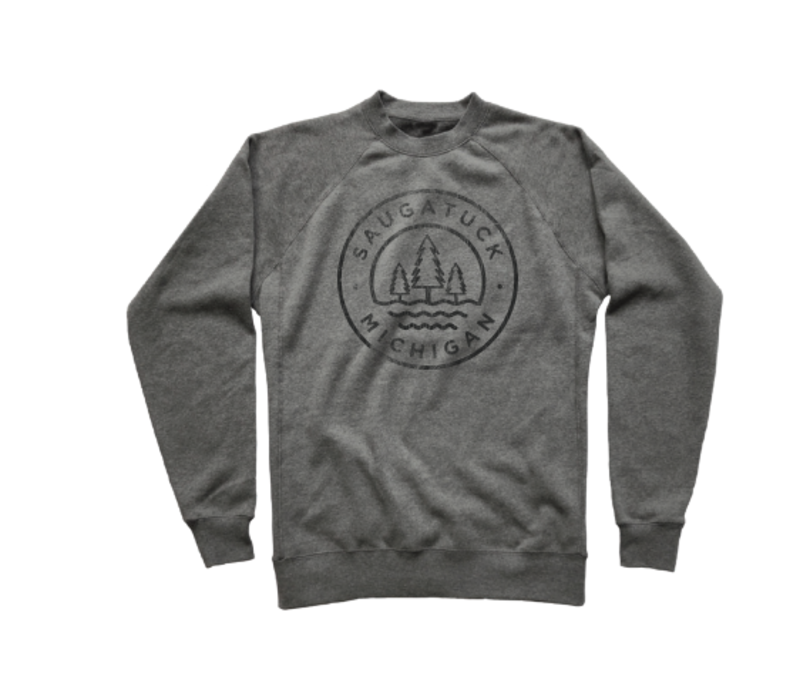 Tech Styles Saugatuck Trees & Waves Crew Sweatshirt
