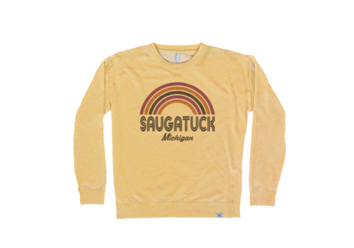 TechStyles Tech Styles W's Saugatuck Rainbow Supersoft Crew Sweatshirt