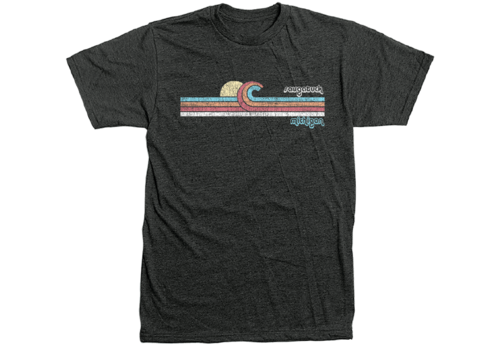 TechStyles Techstyles Retro Saugatuck Wave T Shirt