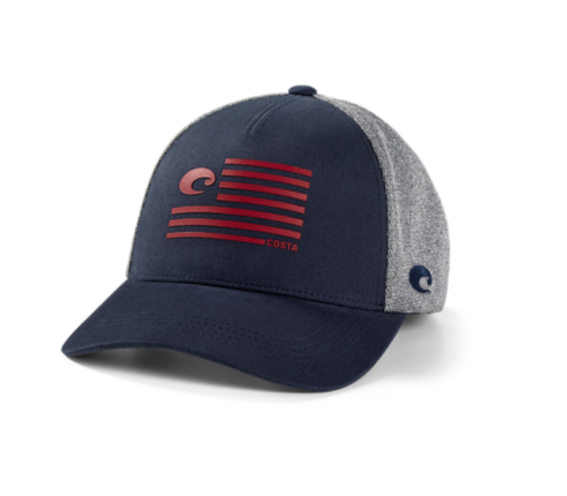 Costa Twill Trucker Pride Logo Hat - Navy