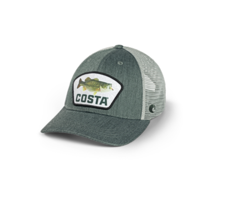 Costa XL Fit Topo Trucker Patch Large Mouth Bass Hat
