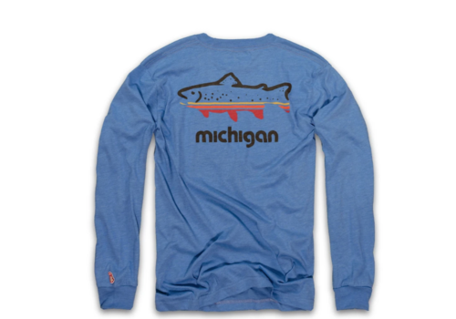 The Mitten State The Mitten State Fish Michigan L/S
