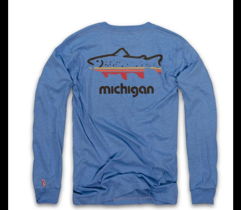 The Mitten State Fish Michigan L/S