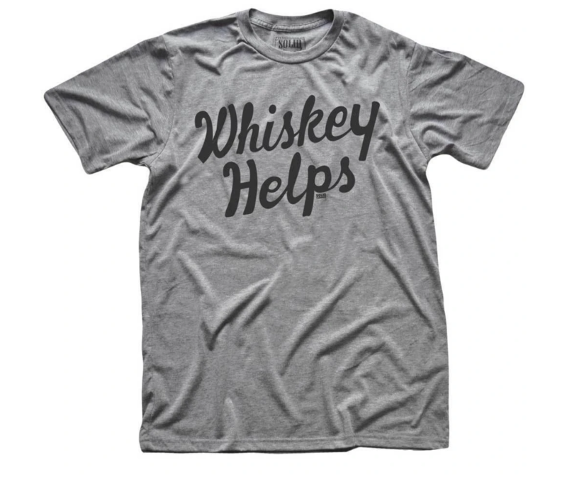 Solid Threads Whiskey Helps T-shirt