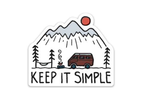 Keep Nature Wild Keep It SImple Sticker