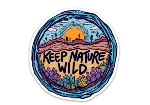 Keep Nature Wild Wild Earth Day 2019 Sticker