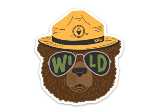Keep Nature Wild Wildbear Sticker