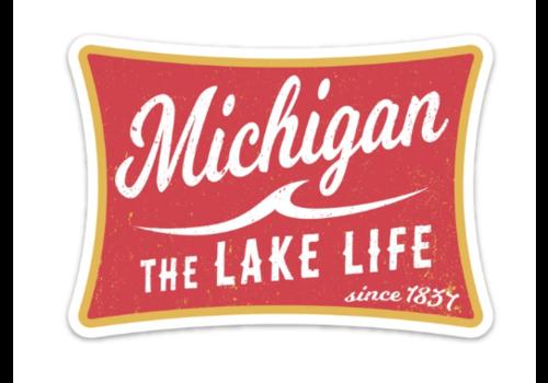 Tee See Tee Tee See Tee Lake Life Sticker
