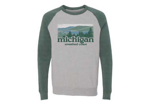 Unsalted Coast Unsalted Coast Michigan Raglan Sweatshirt