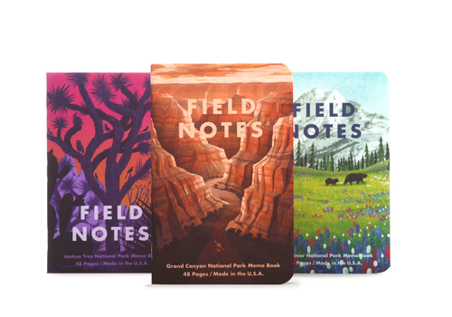 Field Notes Field Notes National Parks-Series B: Grand Canyon, Joshua Tree, Mt. Rainier