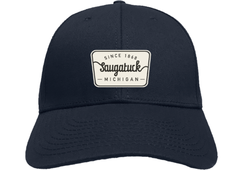 TechStyles Techstyles Saugatuck Since 1868 Patch Trucker Hat, Navy