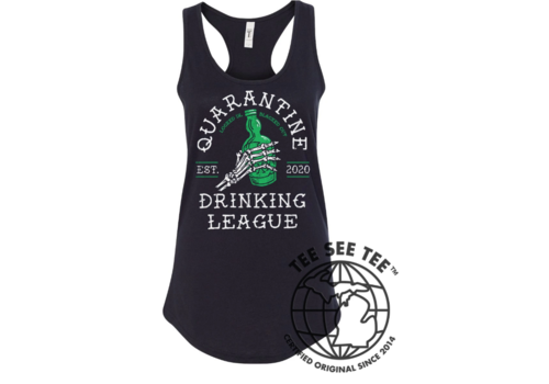 Tee See Tee Quarantine Drinking Team Women's Tank - Locked In : Blacked Out