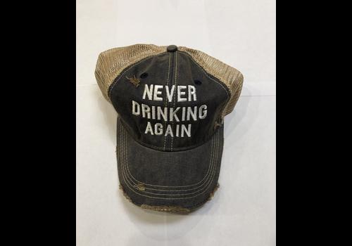 Retro Brand Retro Brand Snap Back Trucker Hat, Never Drinking Again