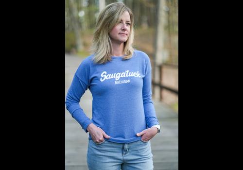 Wildcat Retro Brand Retro Brand LS Classic Saugatuck Women's Sweatshirt