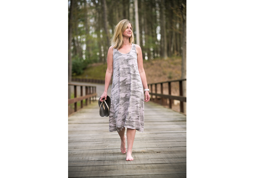 Dylan Dylan Camo Long Tank Dress