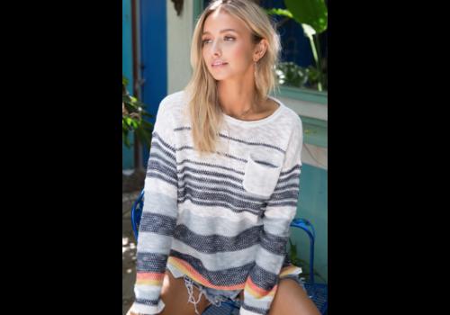 Hem & Thread Hem & Thread Multi Striped Color Sweater