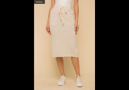 Hem & Thread Hem & Thread Simple Midi Back Sweater Skirt w/ Slit
