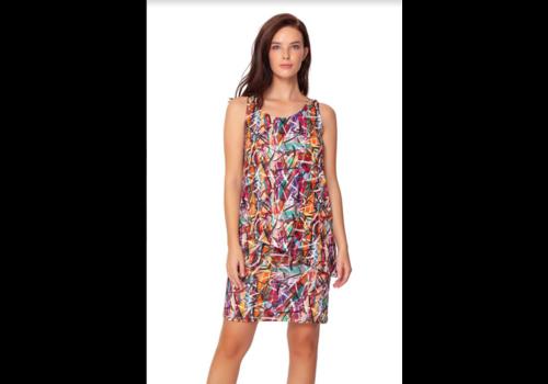 Isle Apparel Isle Aymetrical Layered Tank Dress