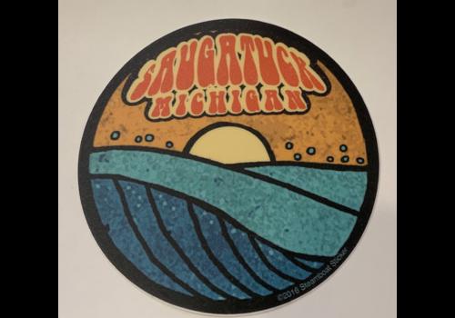 Steamboat Sticker Steamboat Sticker Saugatuck Wave