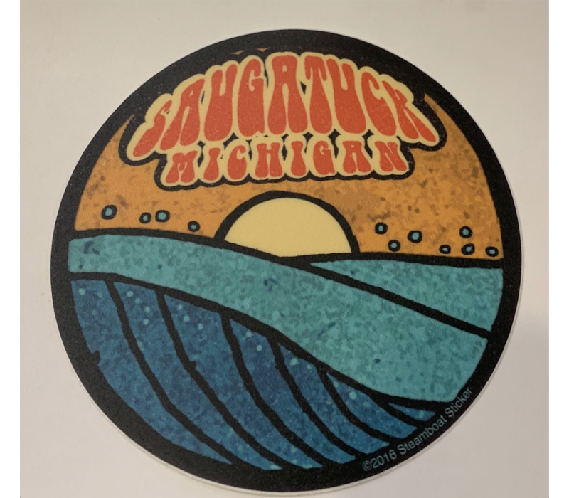 Steamboat Sticker Saugatuck Wave