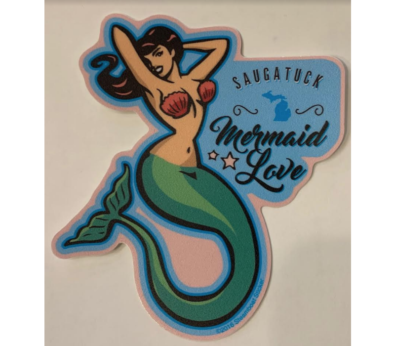 Steamboat Sticker Mermaid Love
